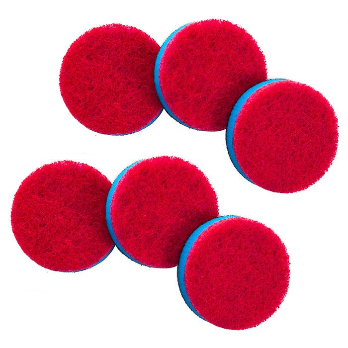 444-864 - Quickie Household Power Scrubber Set of Six Scourer Pad Refills