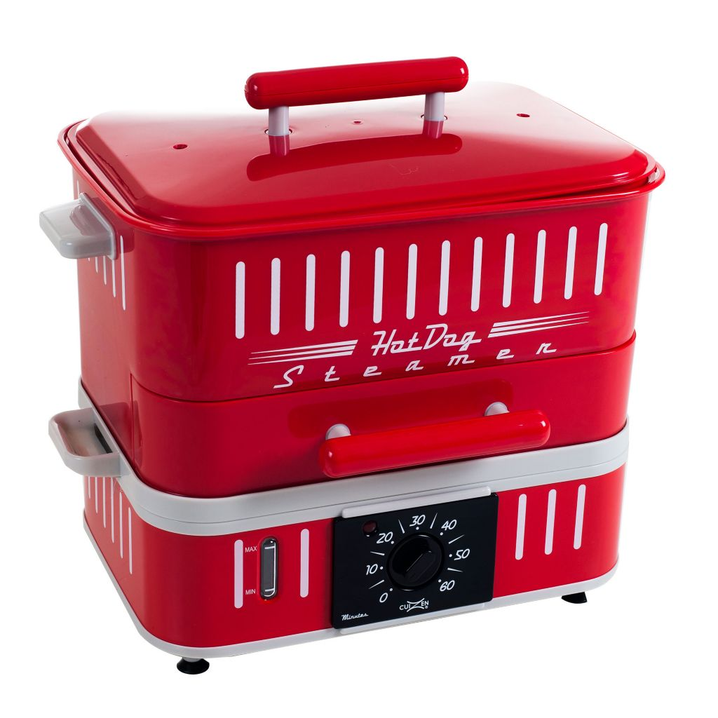 444-865 - Cuizen Retro-Style Hot Dog Steamer & Bun Warmer