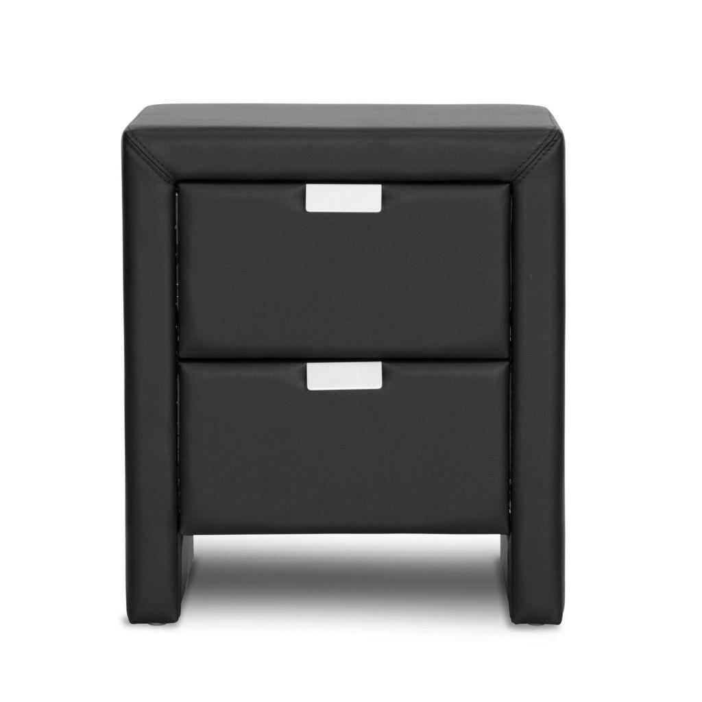 444-868 - Baxton Studio Frey Upholstered Modern Nightstand