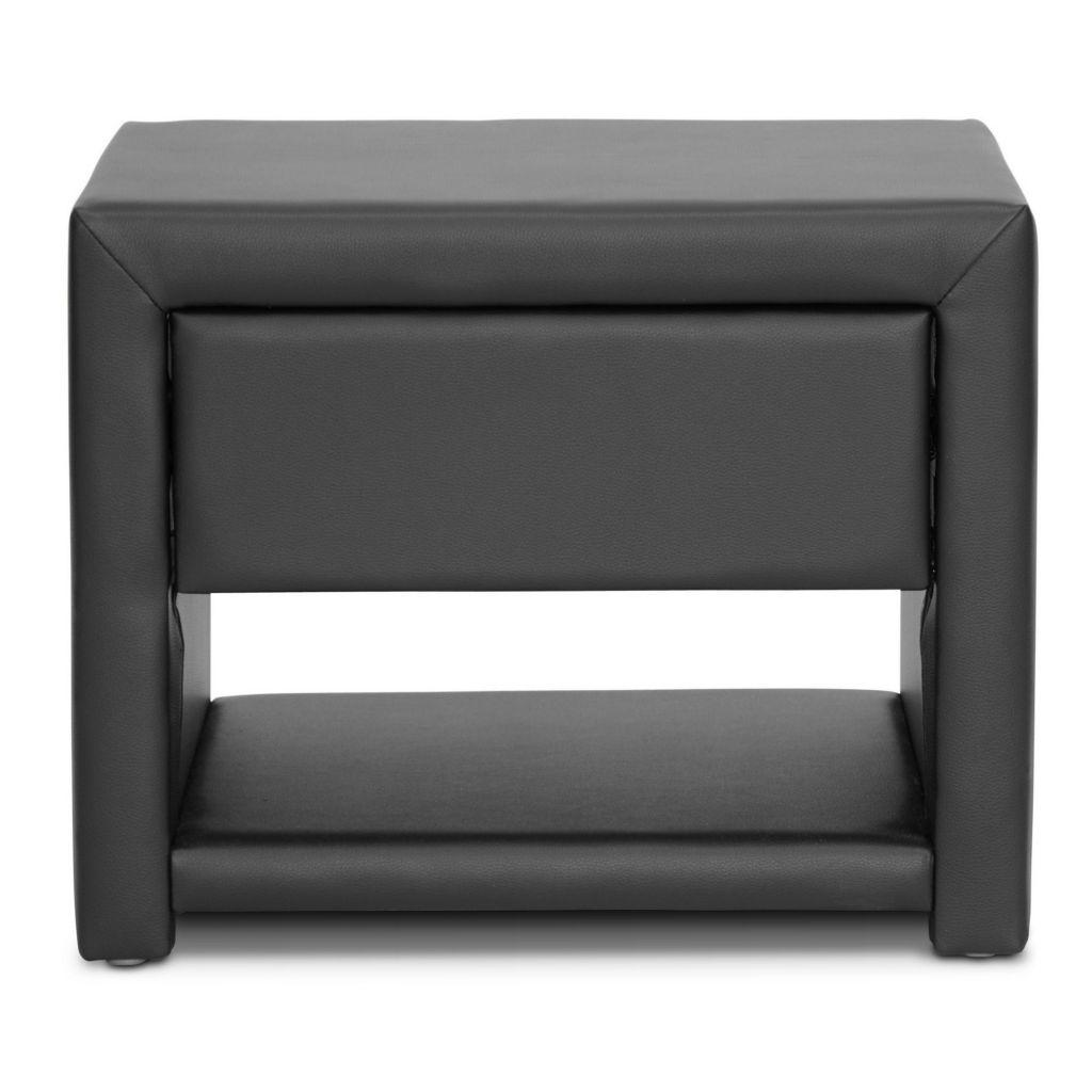 444-869 - Baxton Studio Massey Upholstered Modern Nightstand