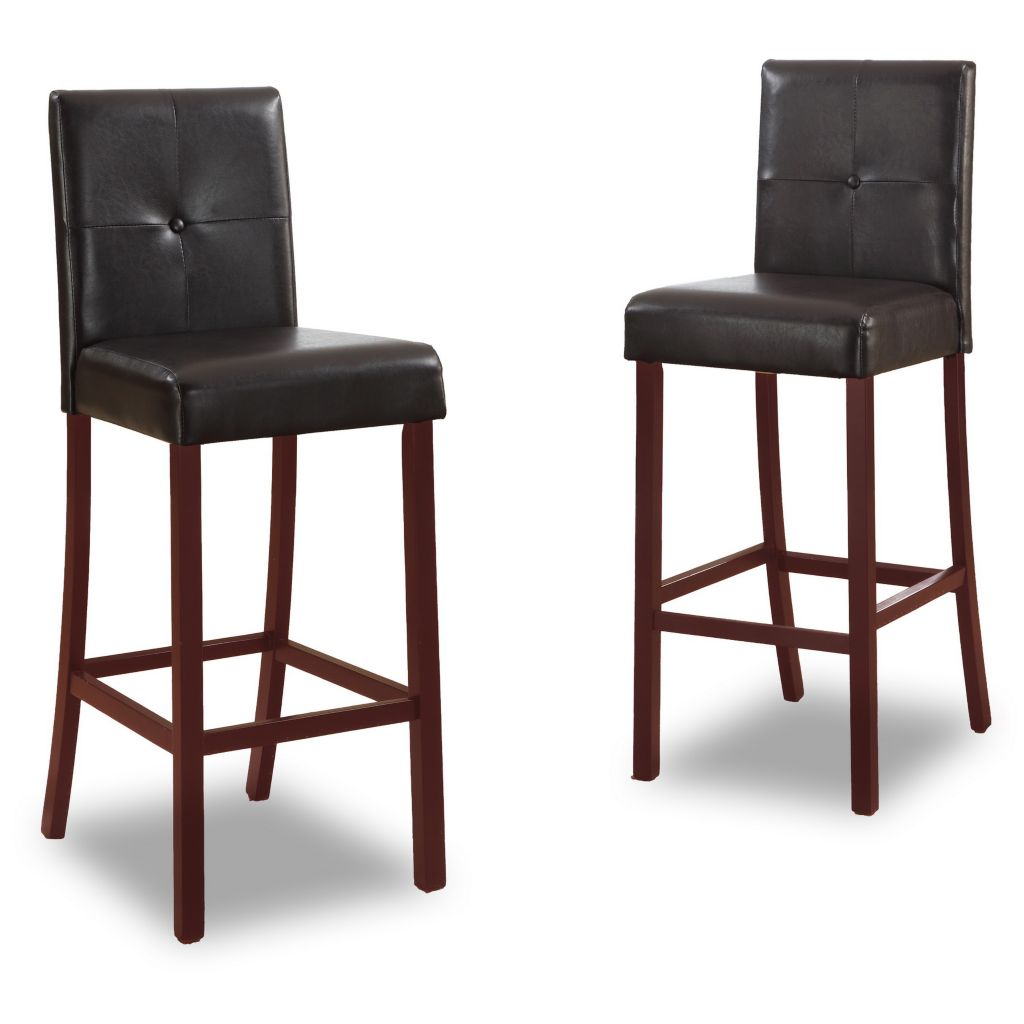 444-885 - Baxton Studio Curtis Set of Two Modern Bar Stools