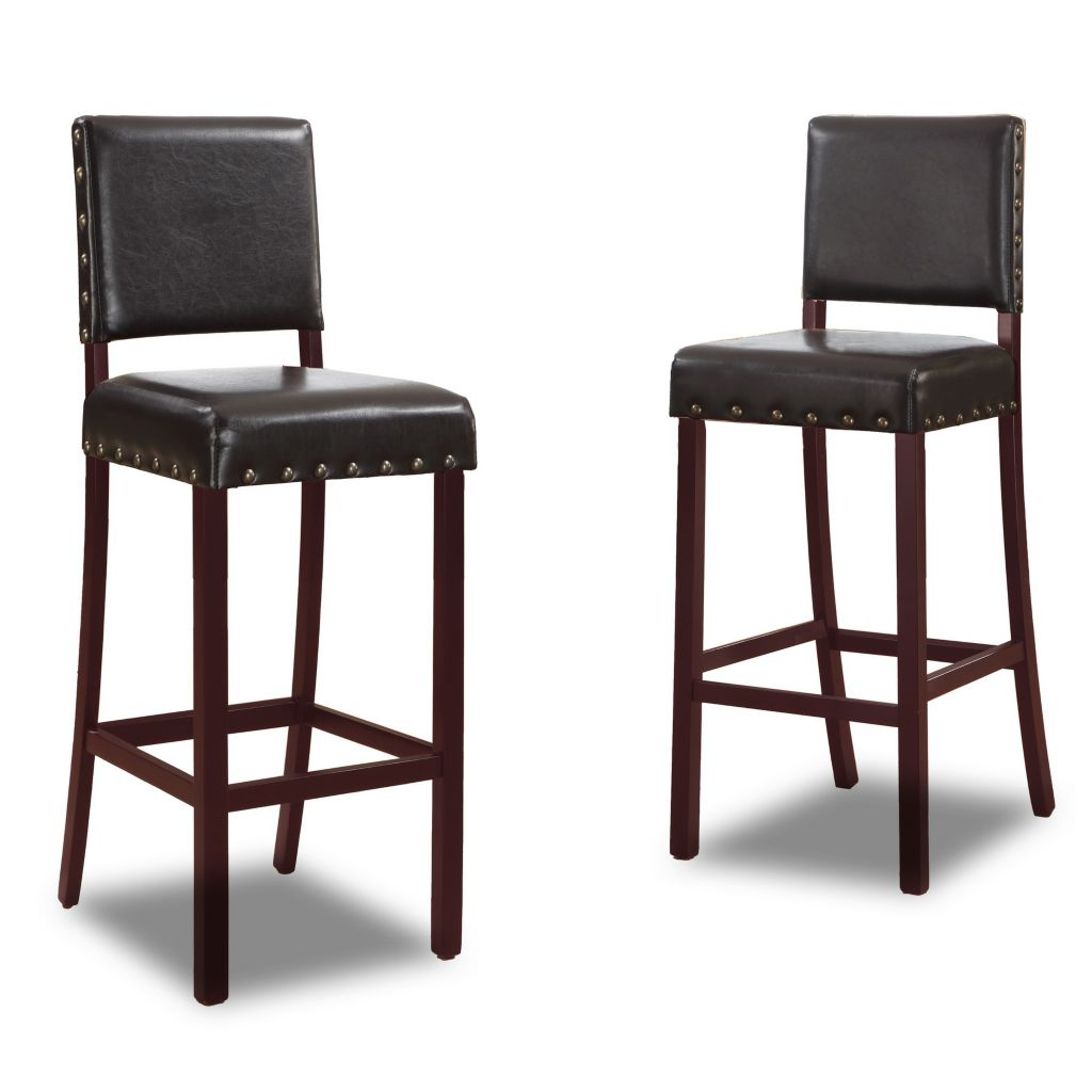 444-887 - Baxton Studio Walter Set of Two Modern Bar Stools