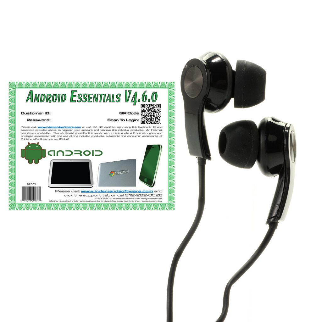 444-945 - Lenovo Headset w/ Built-In Microphone & Android Essentials Software