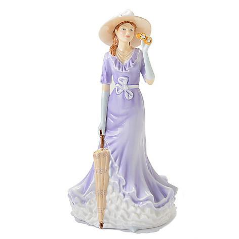 444-952 - Royal Doulton Pretty Ladies ''Happy Birthday'' 9'' Bone China Figurine -Signed