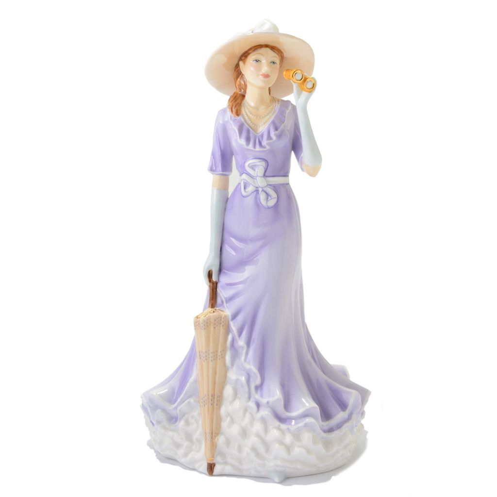 "444-952 - Royal Doulton® Pretty Ladies Happy Birthday 9"" Bone China Figurine -Signed"