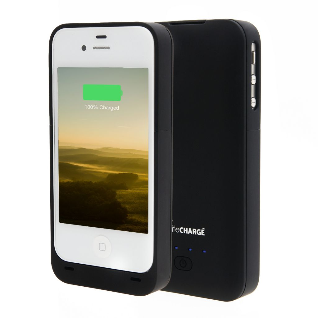 444-957 - LifeCHARGE 2000mAh Extended Battery Case for Apple iPhone 4/4S