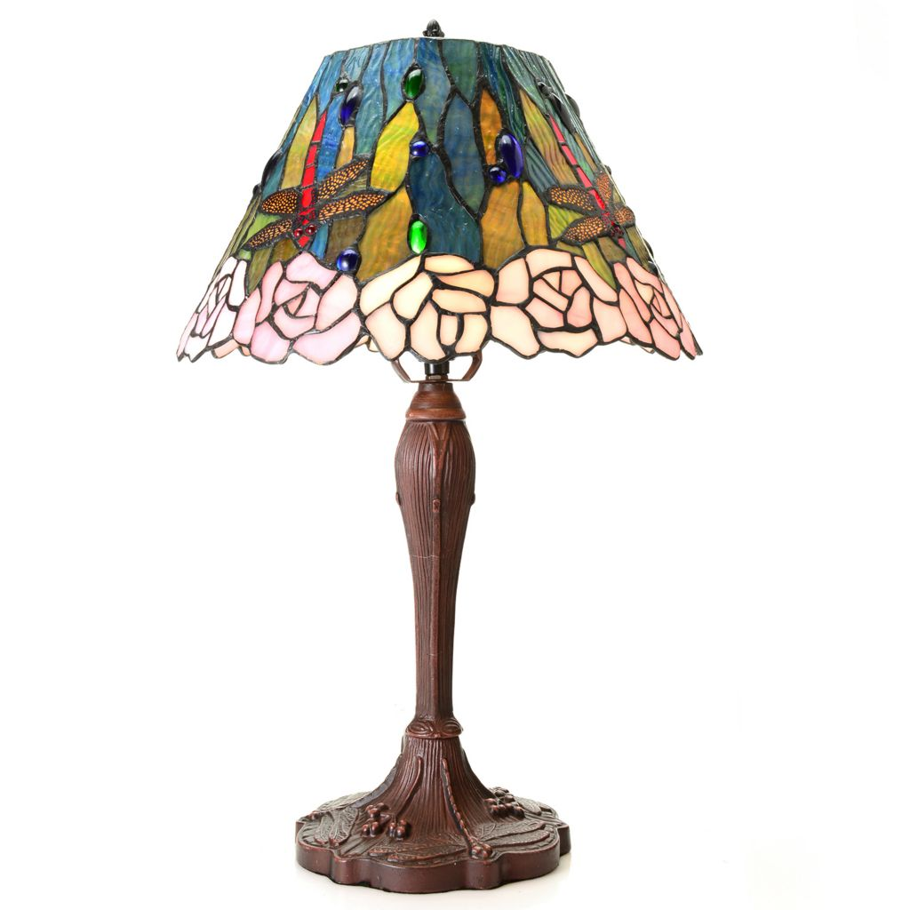 444-997 - Tiffany-Style Choice of Fantastic Favorite Stained Glass Table Lamp