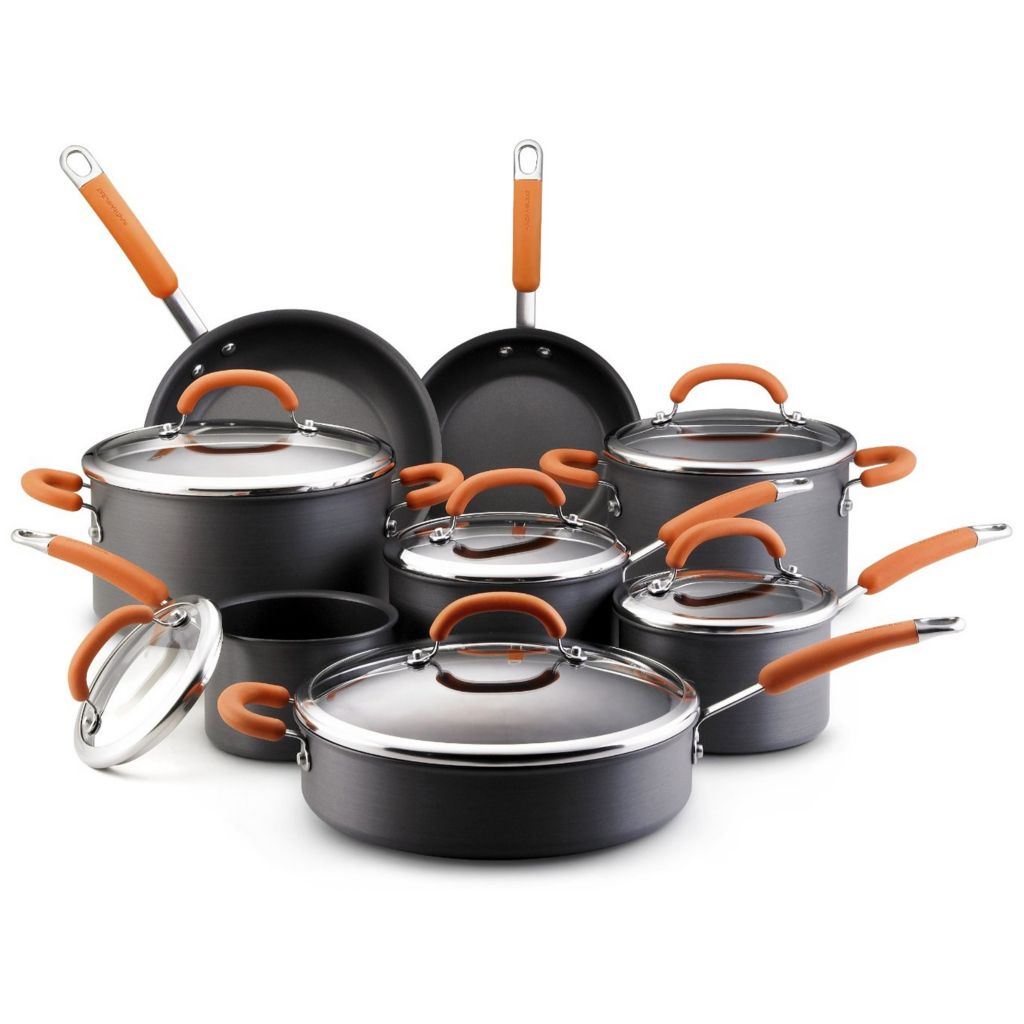 445-019 - Rachael Ray® Hard-Anodized 14-Piece Cookware Set