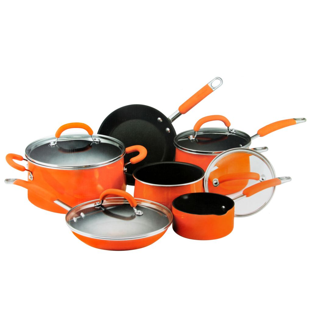 445-020 - Rachael Ray® Porcelain Enamel Nonstick 10-Piece Cookware Set
