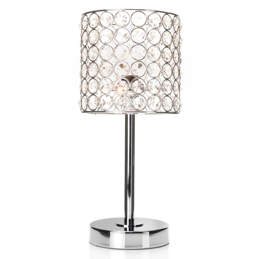 "445-029 - Style at Home with Margie 13"" Beaded Crystalline Accent Lamp"