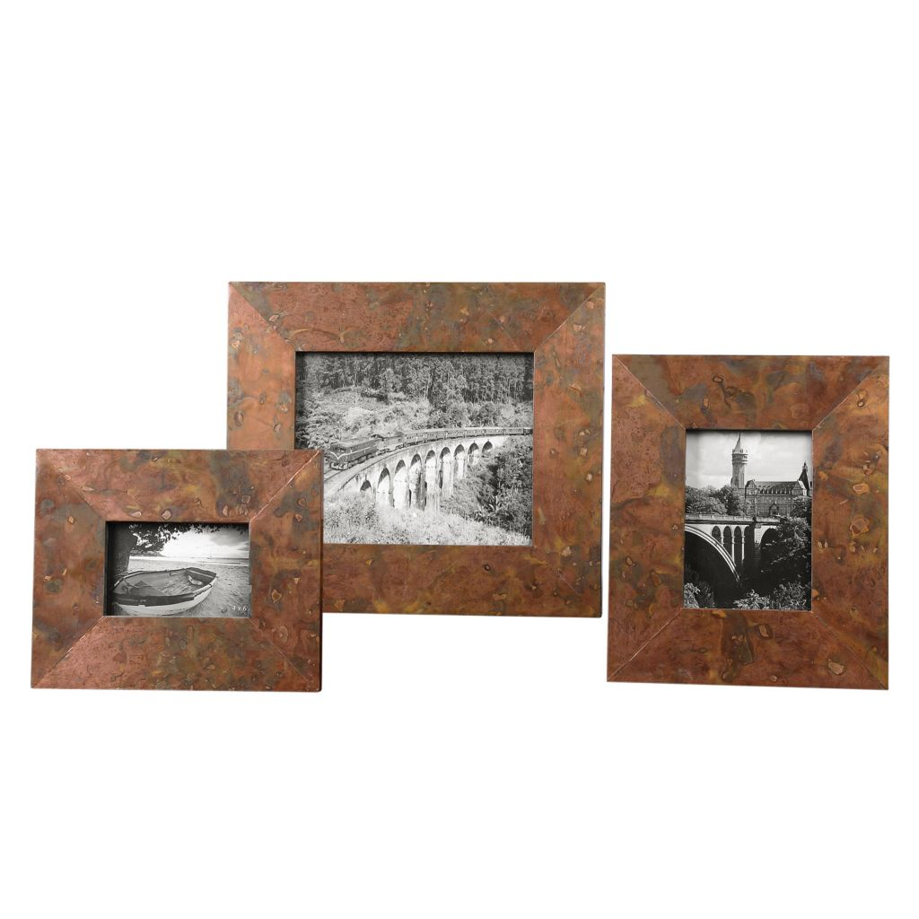 445-091 - Uttermost Set of Three Ambrosia Photo Frames