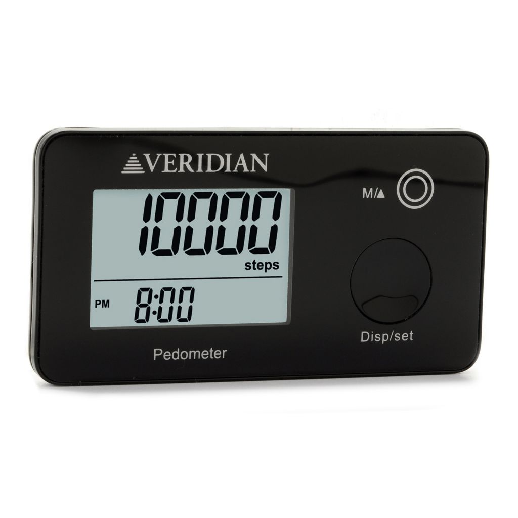 445-166 - Veridian Multi Function Pocket Pedometer w/ Seven-Day Memory Storage