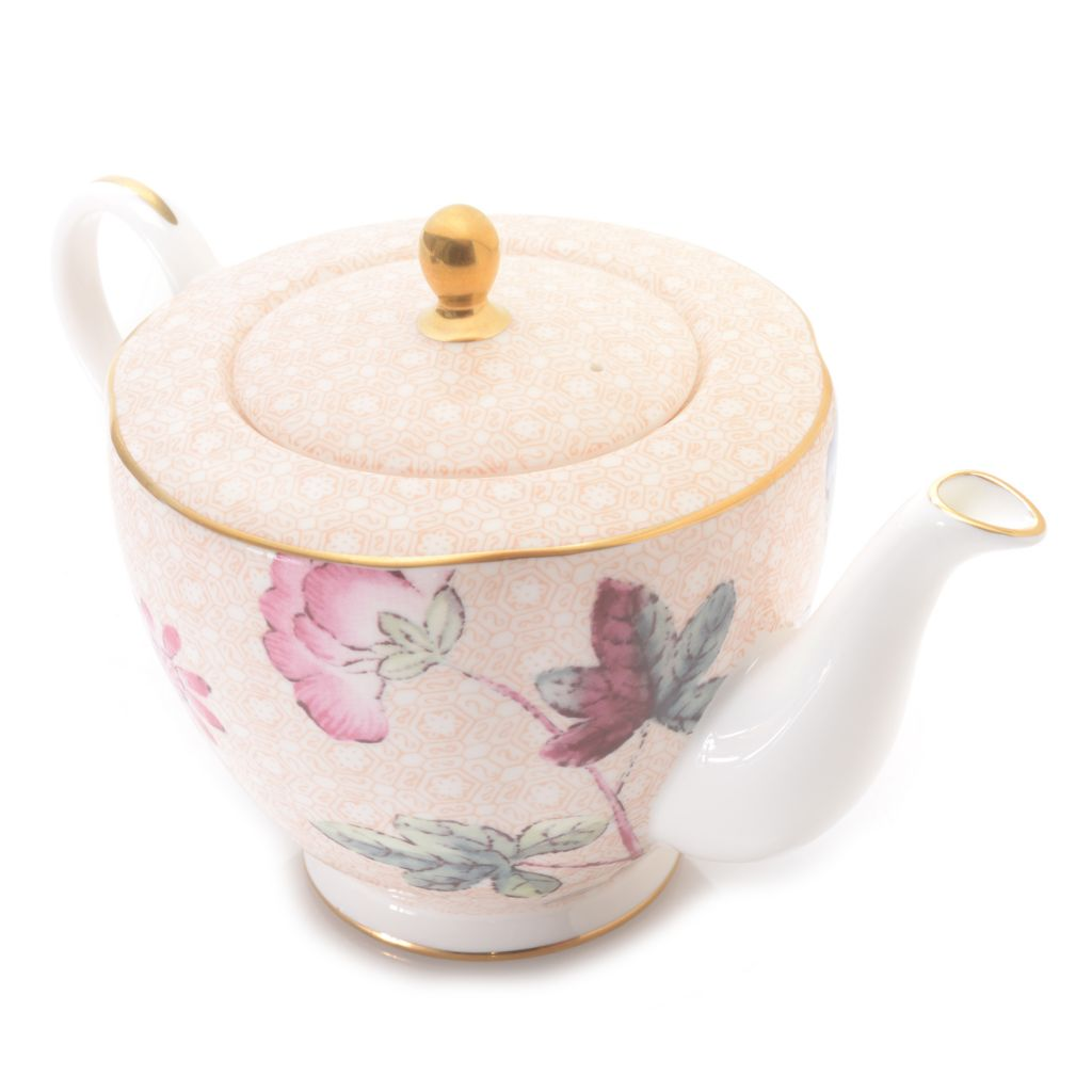 445-172 - Wedgwood® Cuckoo 16 oz Bone China 22K Gold Plated Teapot w/ Lid