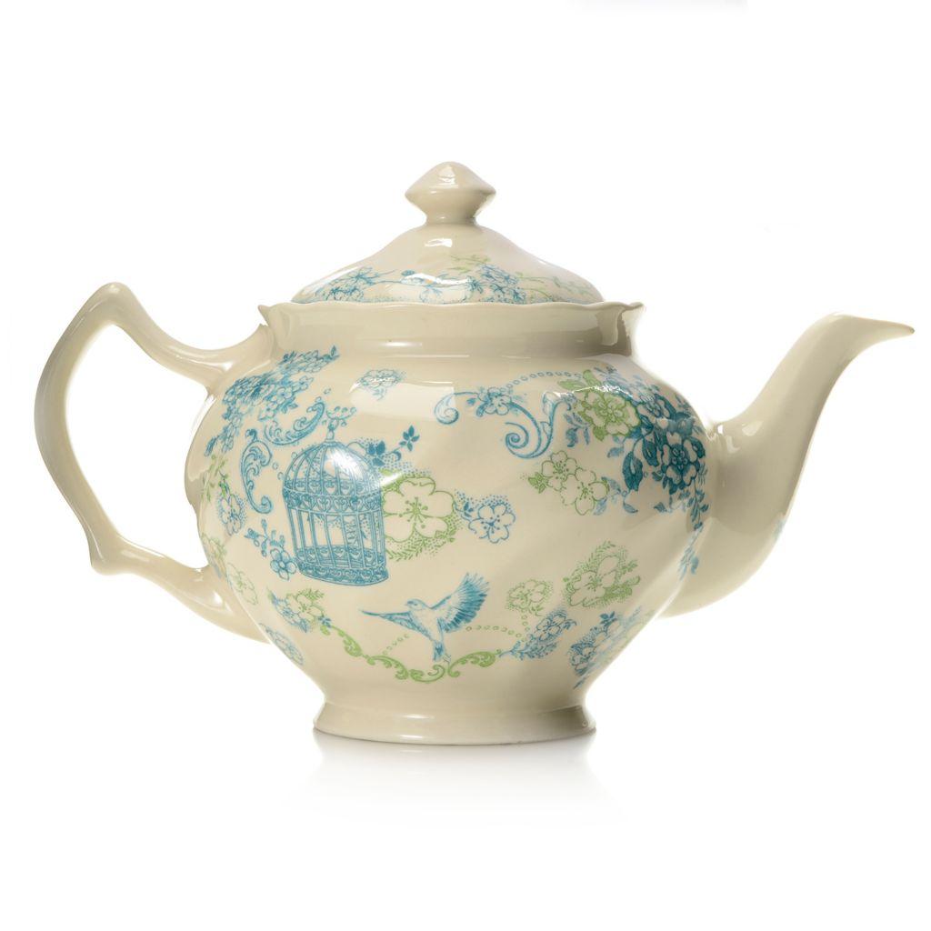 445-186 - Johnson Brothers® Vintage Charm 33 oz Stoneware Teapot w/ Lid
