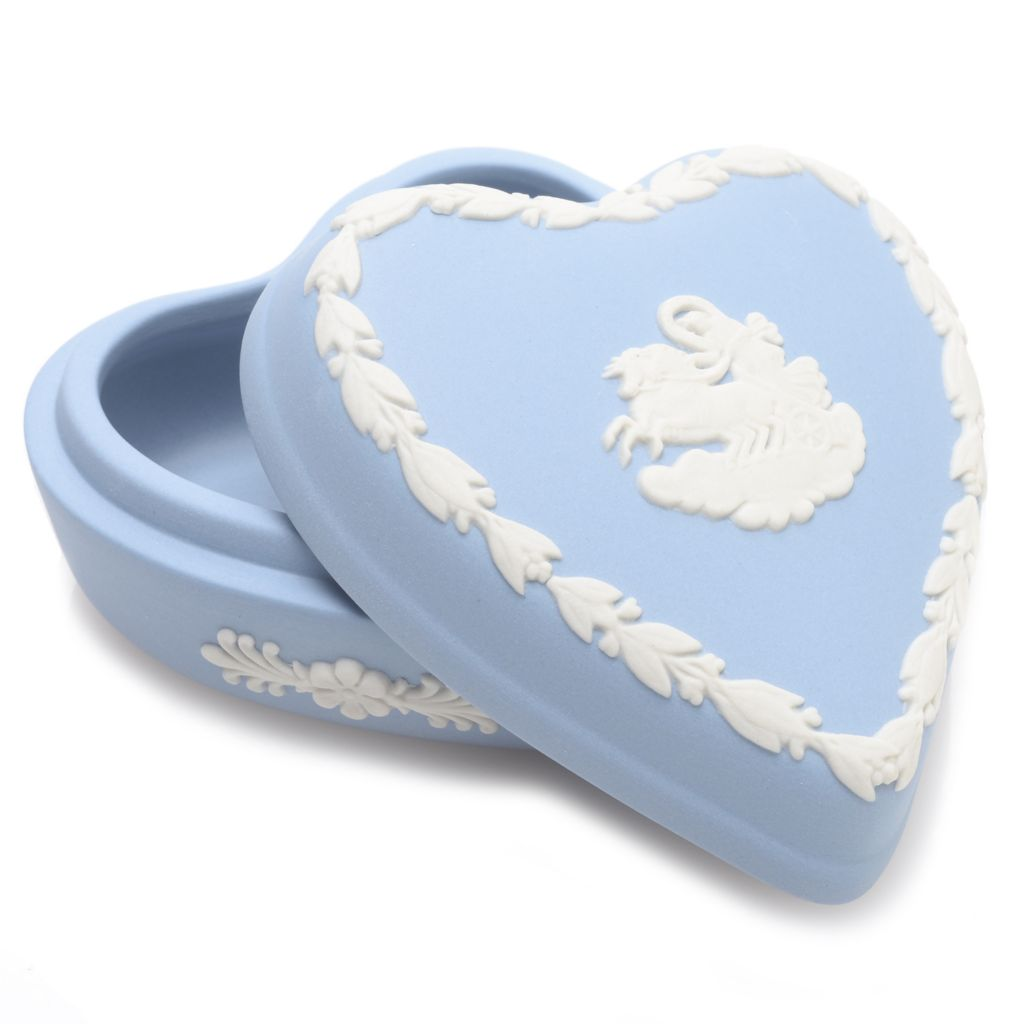"445-192 - Wedgwood® 2.5"" Handmade Jasperware Heart Box"