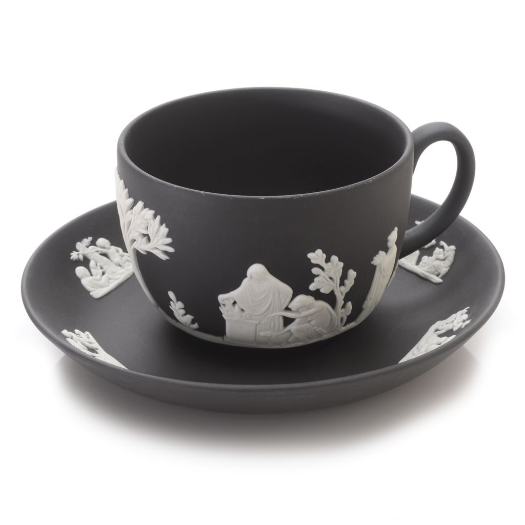 445-193 - Wedgwood® China Two-Piece Handmade Jasperware Cup & Saucer Set