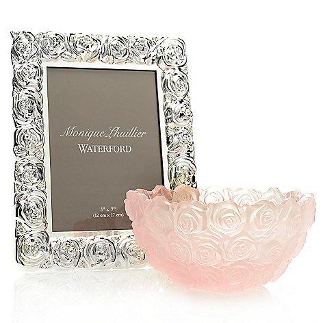445-234 - Waterford® Monique Lhullier Sunday Rose Two-Piece 7'' Bowl & 5'' x 7'' Frame Set