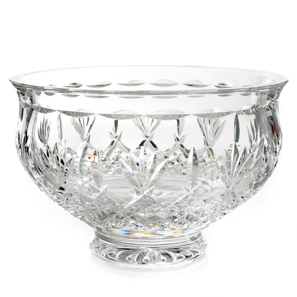 "445-236 - House of Waterford® Killarney 10"" Crystal Footed Bowl"