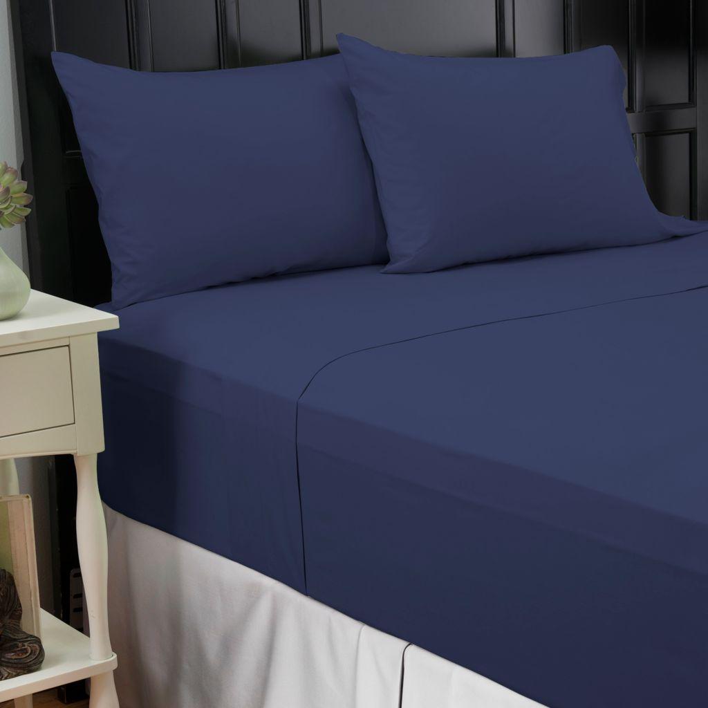 445-238 - North Shore Linens™ 200TC 100% Cotton Percale Four-Piece Sheet Set