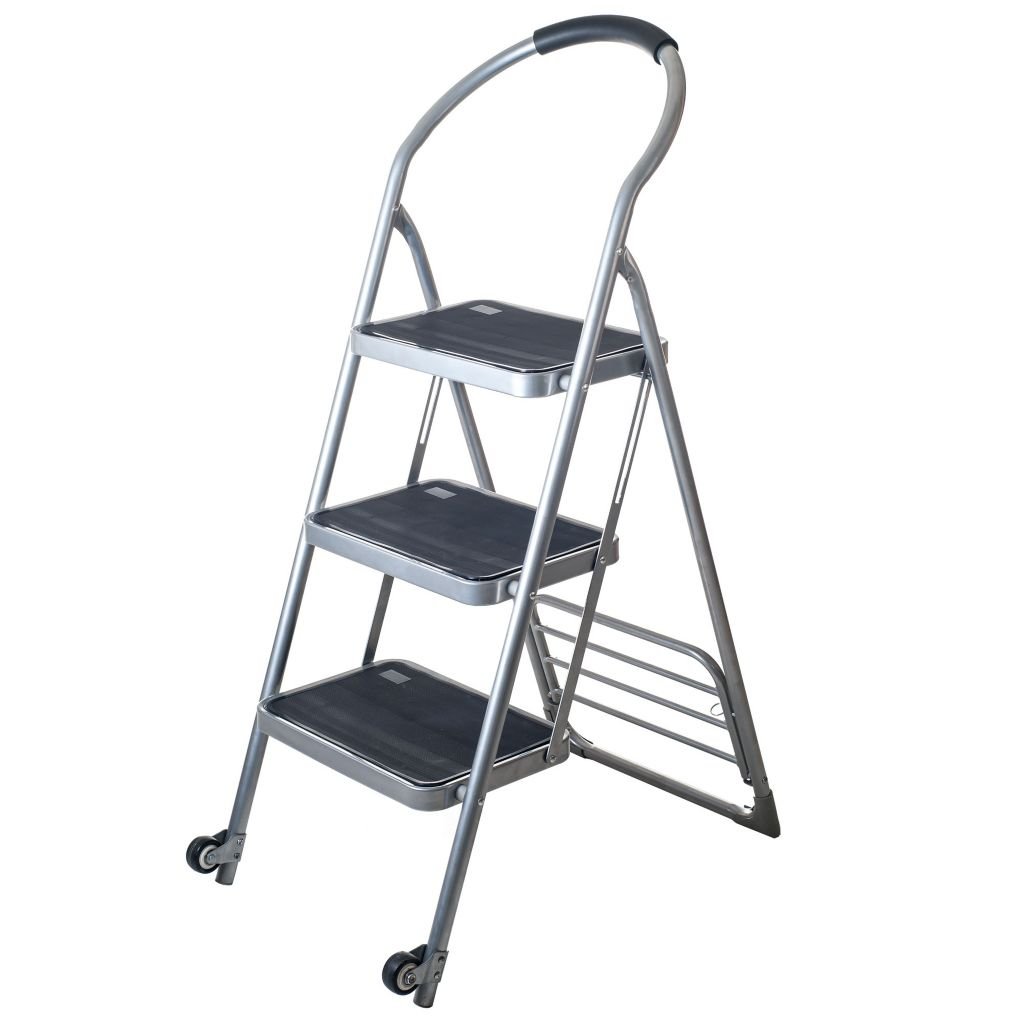 445-240 - Stalwart Three-Step Ladder Dolly Folding Cart
