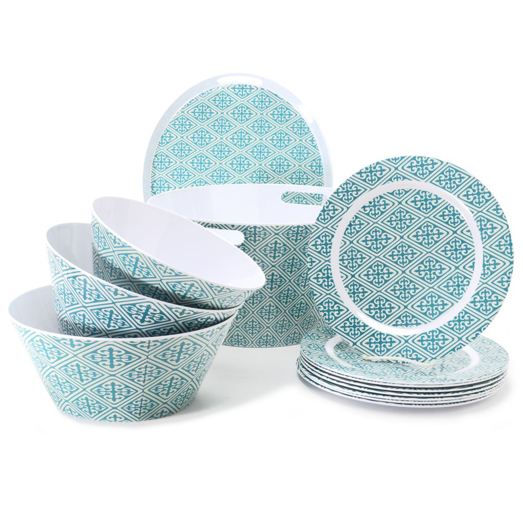 445-253 - Cook's Companion™ 13-Piece Assorted Beverage Tub, Bowls, Plates & Serving Tray Set