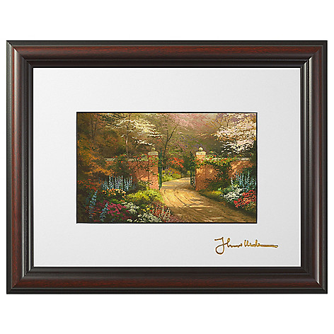 445-267 - Thomas Kinkade ''Gate of New Beginning'' Framed Print w/ Easel Stand