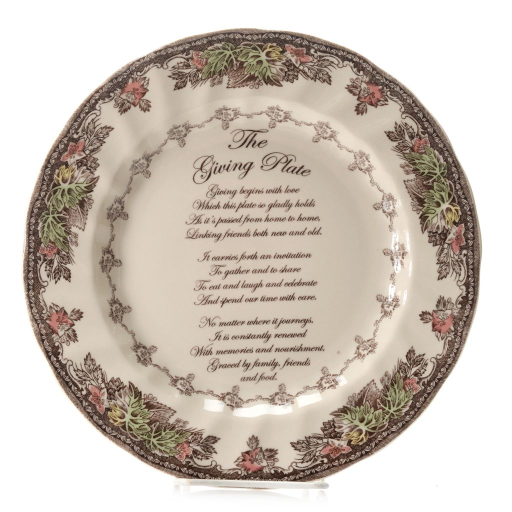 "445-325 - Johnson Brothers® Friendly Village 10.5"" Earthenware Giving Plate"