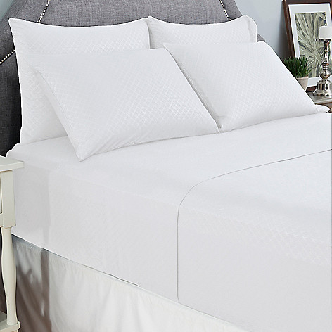 445-339 - Cozelle® Microfiber Embossed Six-Piece Sheet Set