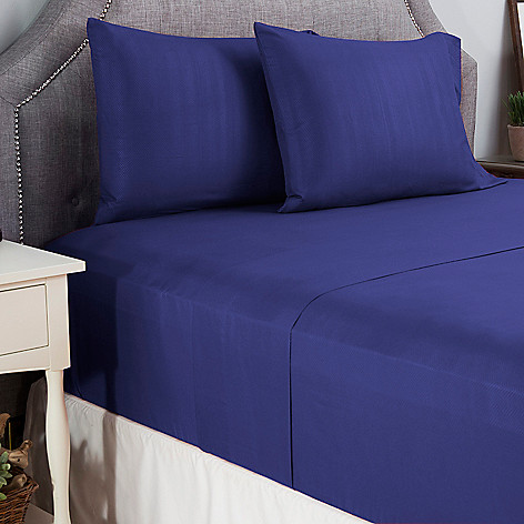 445-341 - Cozelle® Microfiber Herringbone Embossed Four-Piece Sheet Set