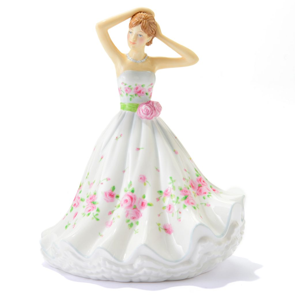 "445-373 - Royal Doulton® Dawn 7.5"" Bone China Hand-Decorated Petites Figurine"