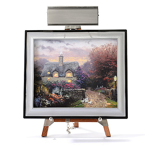 445-413 - Thomas Kinkade Mini Masters® 13-Piece ''Cottage Collection'' Set w/ Easel & Keepsake Box