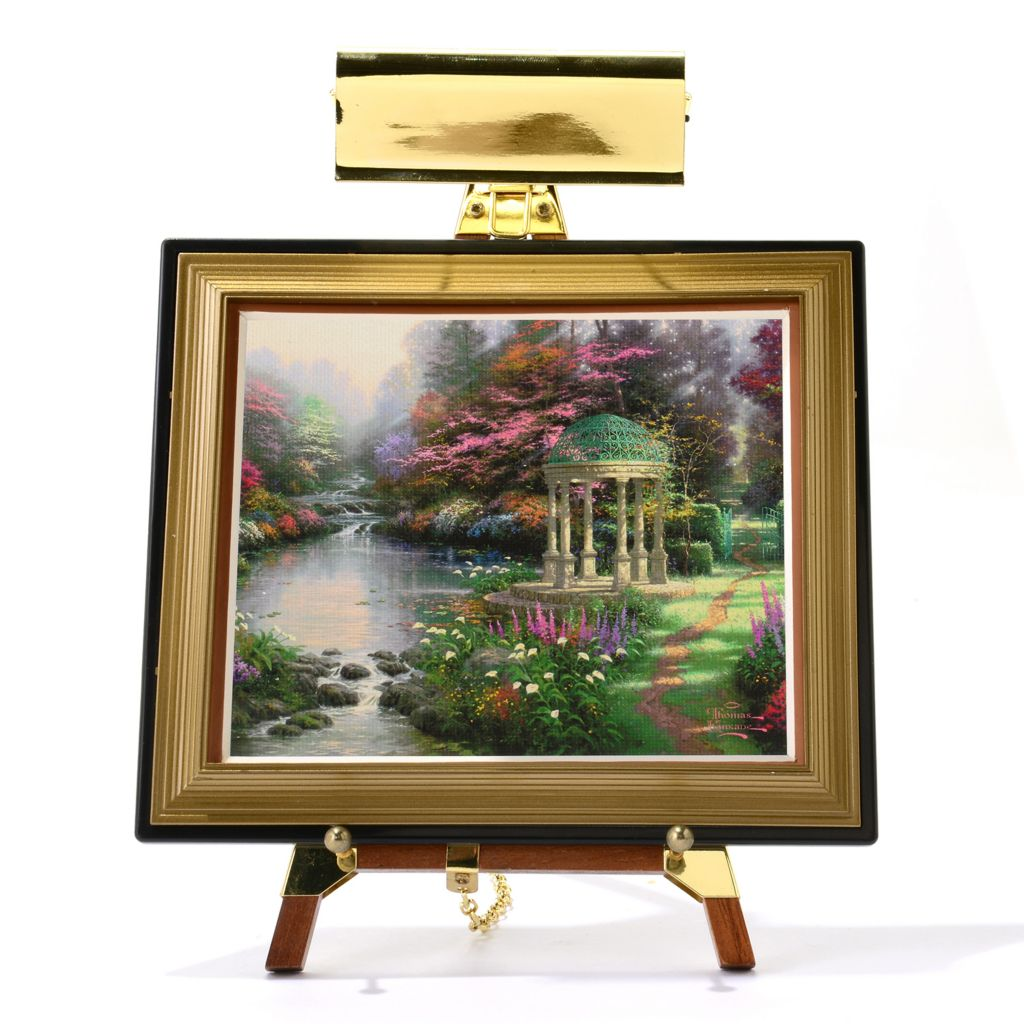 "445-414 - Thomas Kinkade Mini Masters® 13-Piece ""Garden Collection"" Set w/ Easel & Keepsake Box"