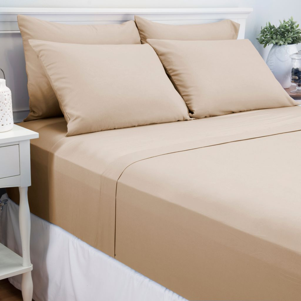 445-420 - Cozelle® Microfiber Solid Six-Piece Sheet Set