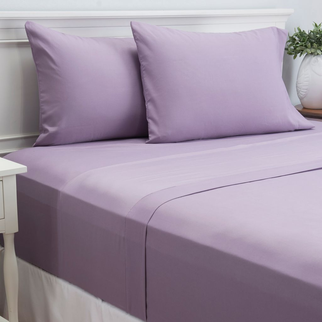 445-421 - Cozelle® Microfiber Solid Four-Piece Sheet Set