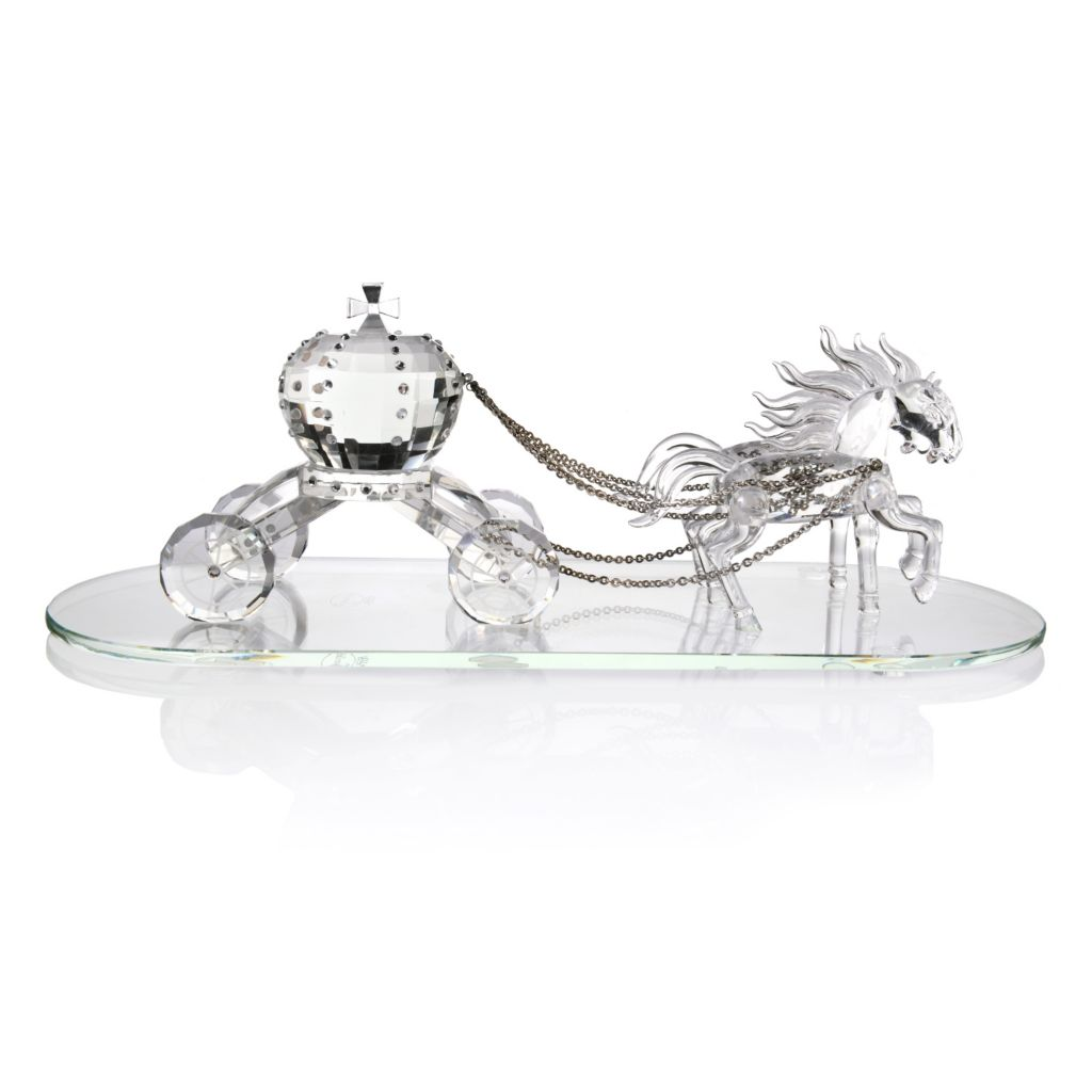 "445-433 - Sorelle® ""Spectacular Fairy Tale"" 14.75"" Crystal Carriage w/ Horse"