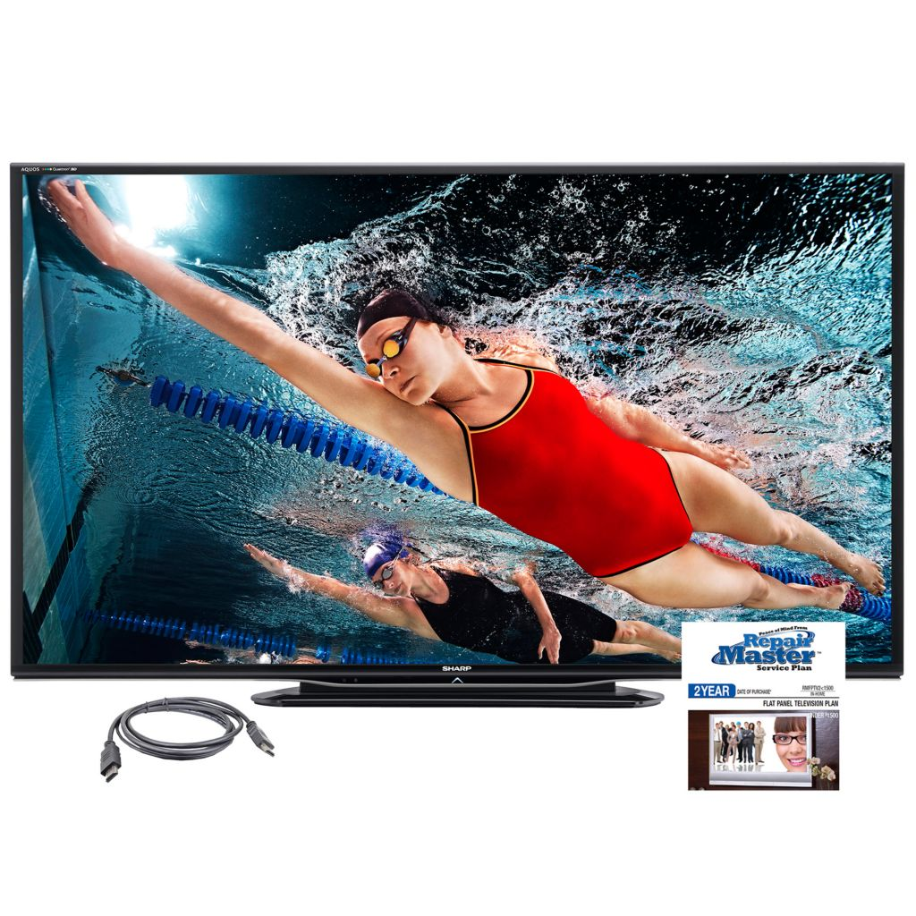 "445-441 - Sharp AQUOS 60"" Ultra Slim 1080p 240Hz 3D LED Smart HDTV w/ Accessories"
