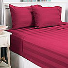 445-471 - North Shore Linens™ 500TC 100% Egyptian Cotton Wide Damask Stripe Four-Piece Sheet Set