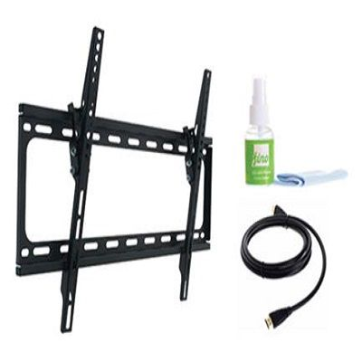 445-480 - Fino Tilted TV Wall Mount w/ Screen Cleaner & HDMI Cable