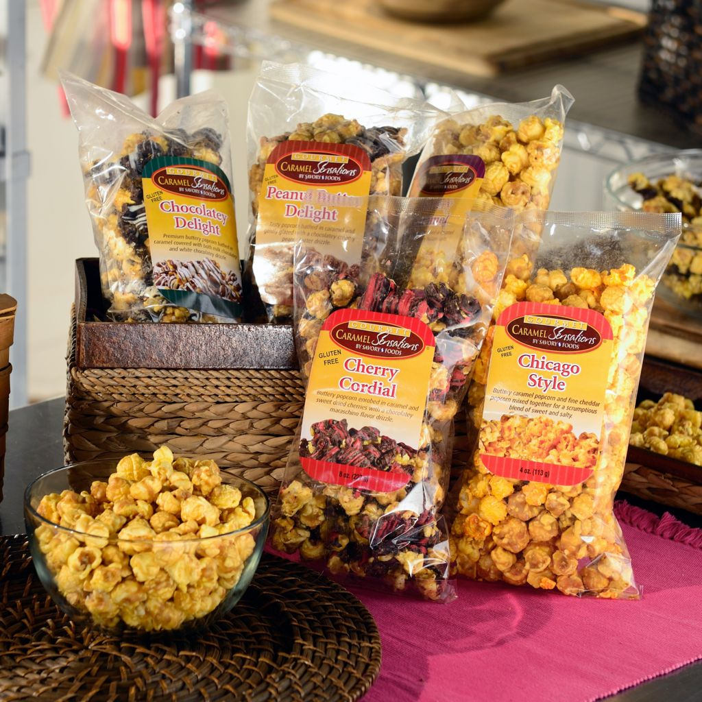 445-502 - Penn Street Bakery Caramel Sensations Set of Five Assorted Popcorn Flavors