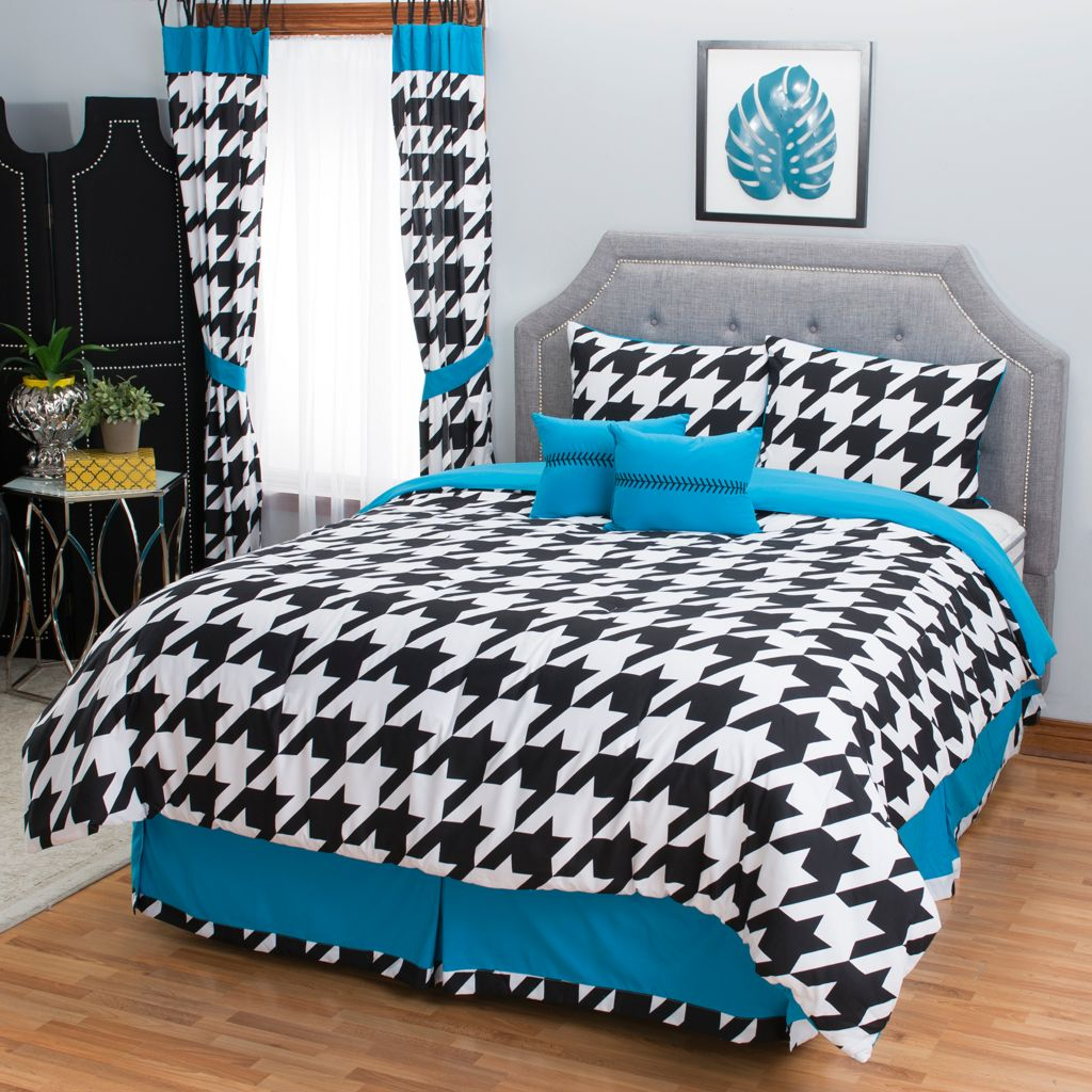 445-538 - North Shore Linens™ Geometric 10-Piece Bedding Ensemble