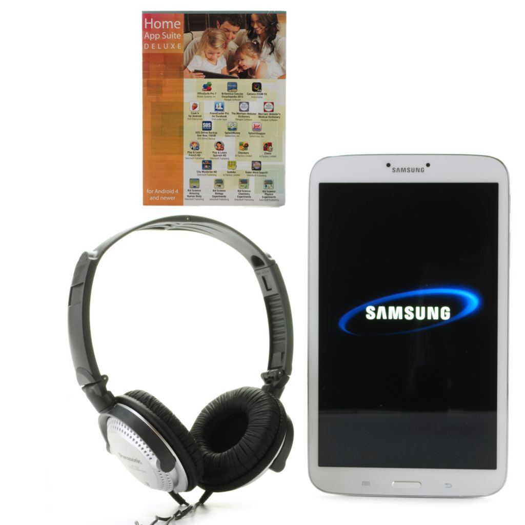 "445-542 - Samsung 8"" 16GB Dual-Core Galaxy Tab 3 Android™ 4.2 Tablet w/ Software & Headphones"