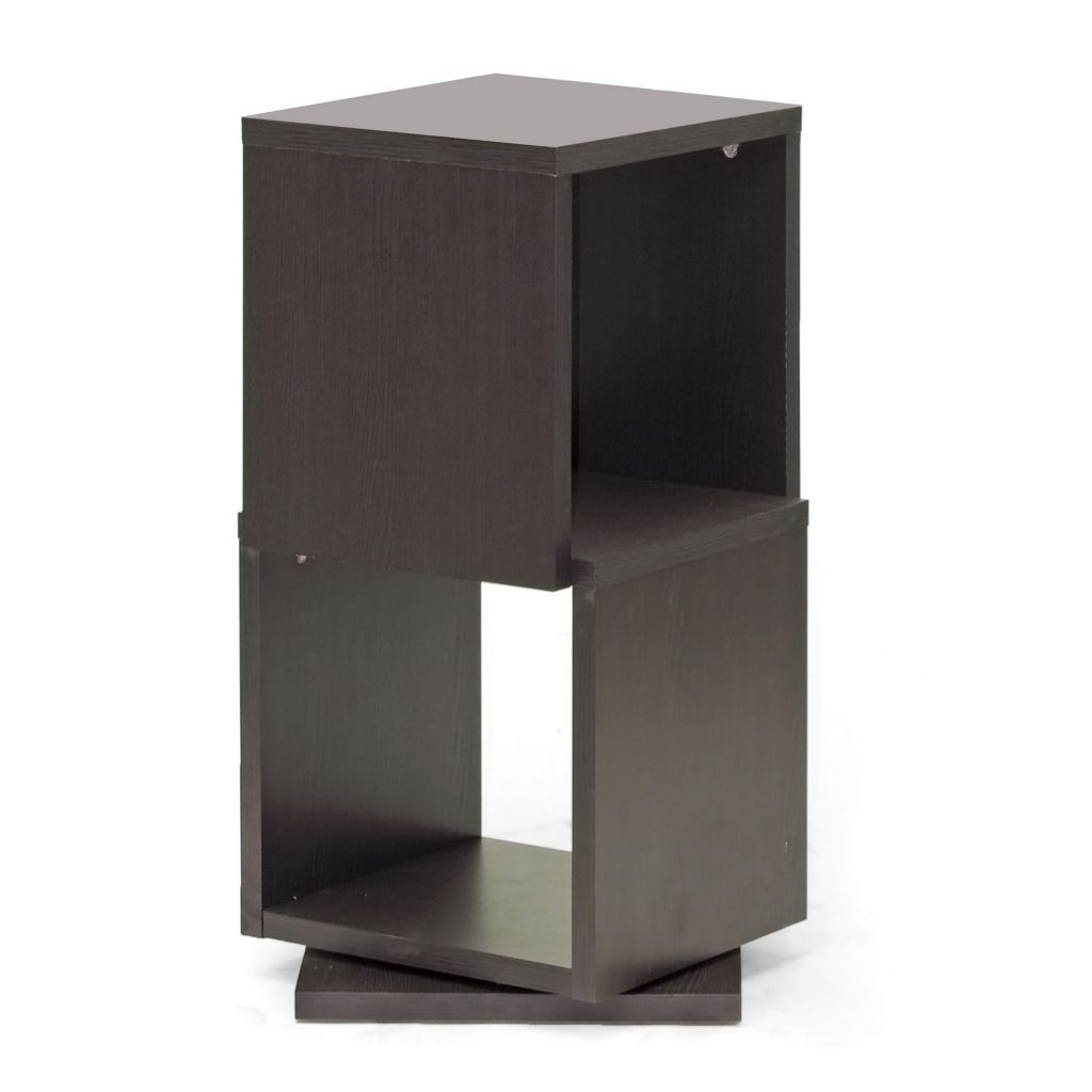 445-557 - Ogden Dark Brown Rotating Modern Bookshelf