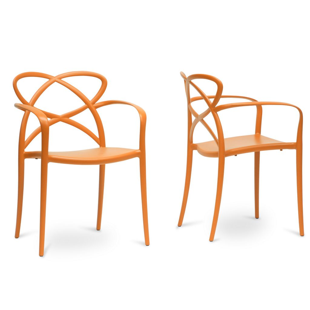 "445-572 - Huxx 32.25"" Set of Two Plastic Stackable Modern Dining Chairs"