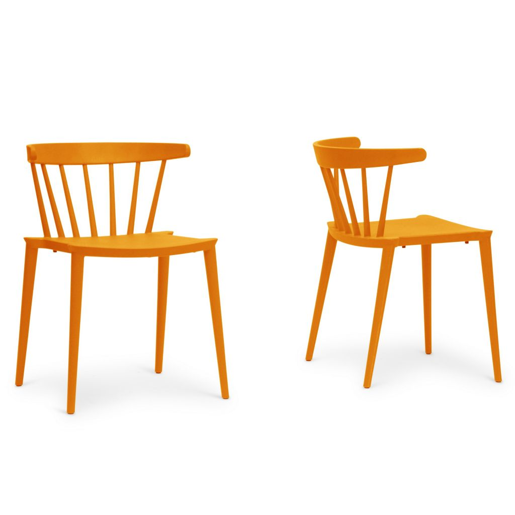 "445-573 - Finchum 28.5"" Set of Two Plastic Stackable Modern Dining Chairs"