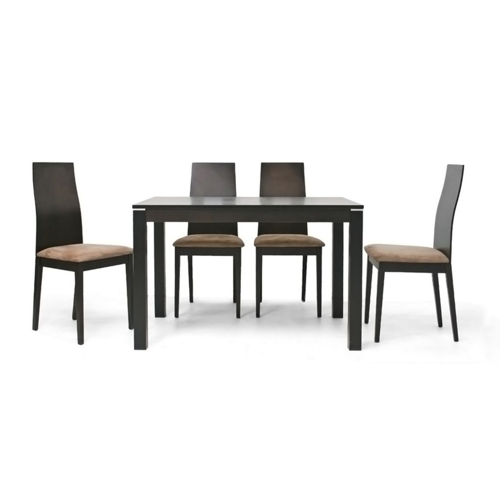 445-587 - Calhoun Five-Piece Dark Brown Modern Dining Set