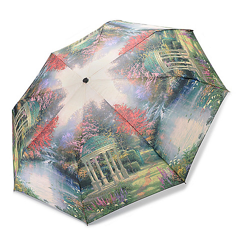 445-591 - Thomas Kinkade ''Garden of Prayers'' Water Resistant Umbrella