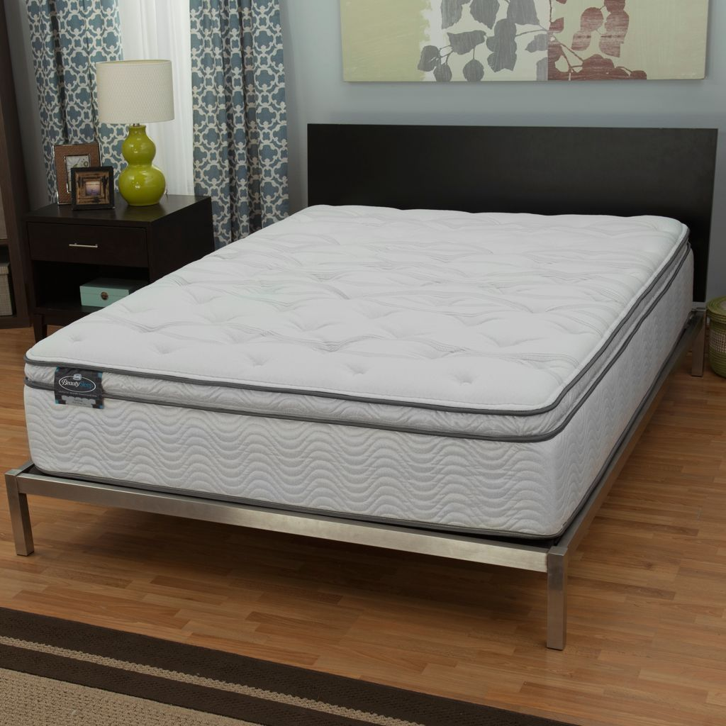 "445-600 - Simmons® BeautySleep® ""Persuasion"" Plush Pillow Top Mattress Only"