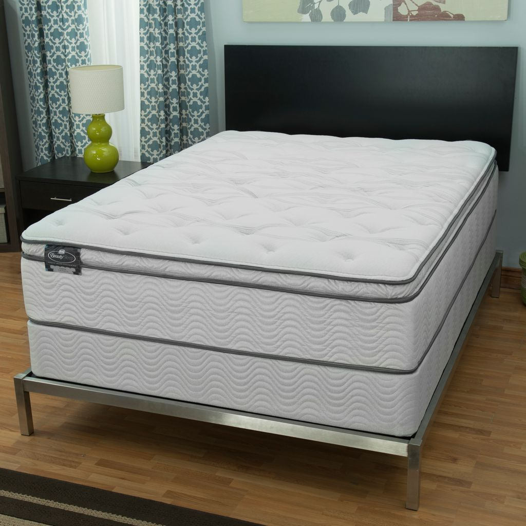 "445-601 - Simmons® BeautySleep® ""Persuasion"" Plush Pillow Top Mattress Set"