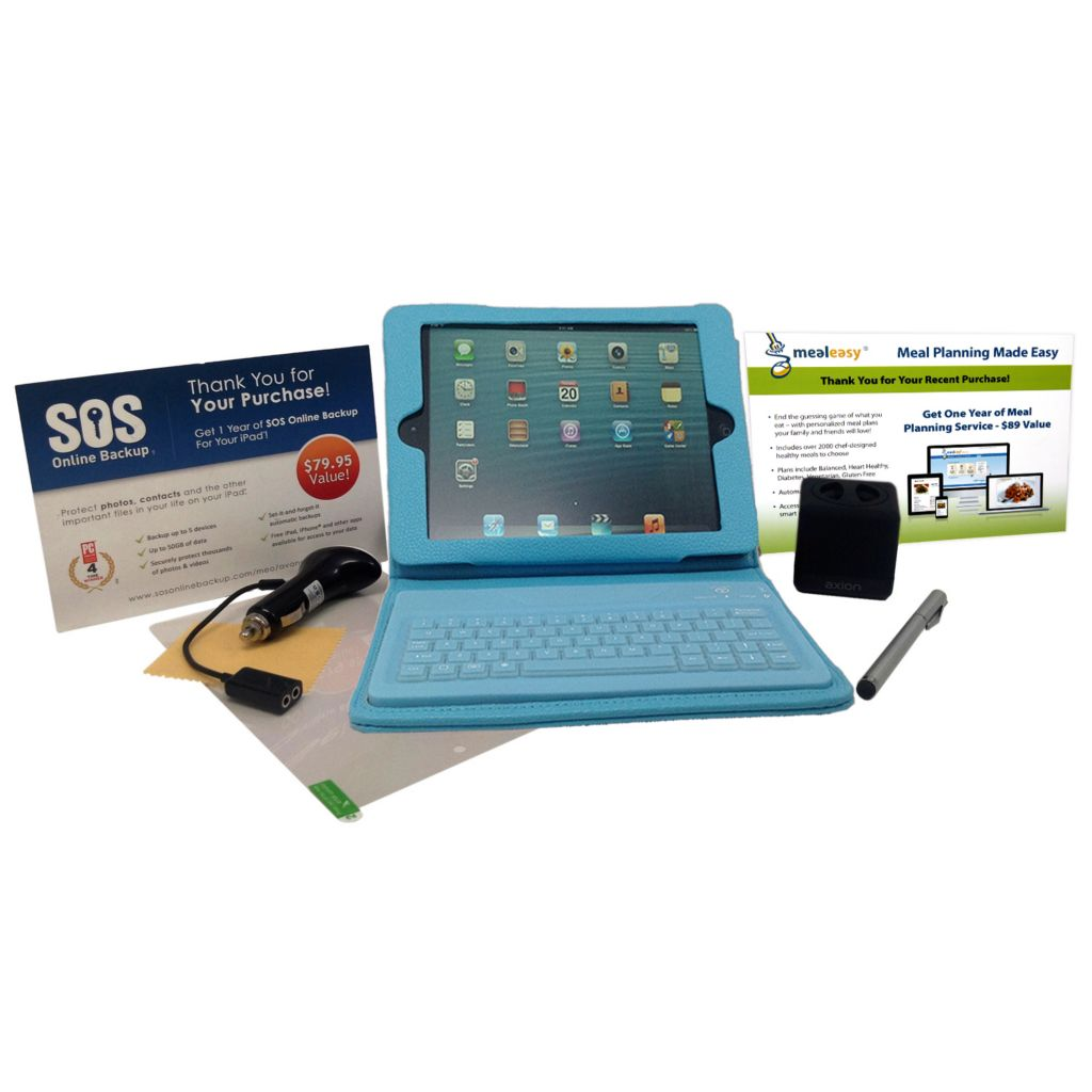 445-639 - Apple iPad Mini 16GB Wi-Fi Retina Display Tablet w/ Bluetooth® Keyboard Folio & Accessories