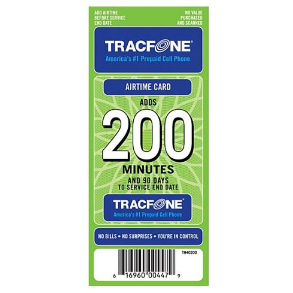 445-684 - TracFone® 200-Minute Airtime Card